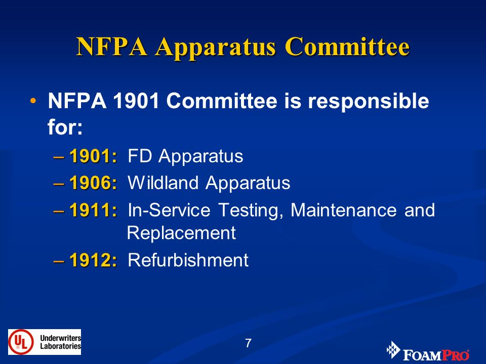 NFPA Apparatus Committee
