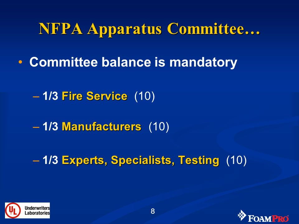 NFPA Apparatus Committee…
