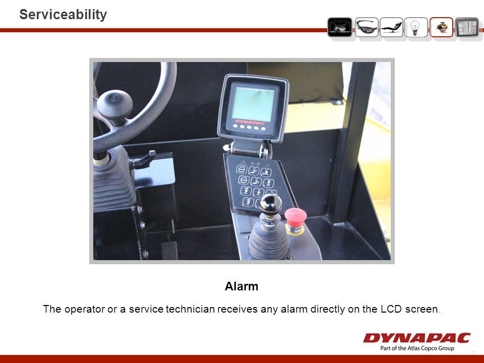 Serviceability Alarm.