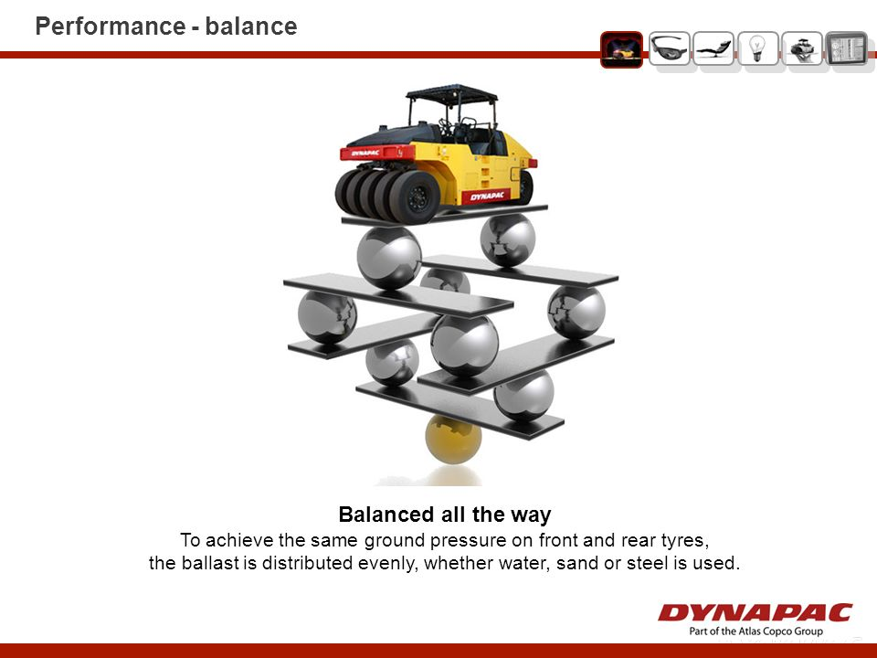 To achieve the same ground pressure on front and rear tyres,