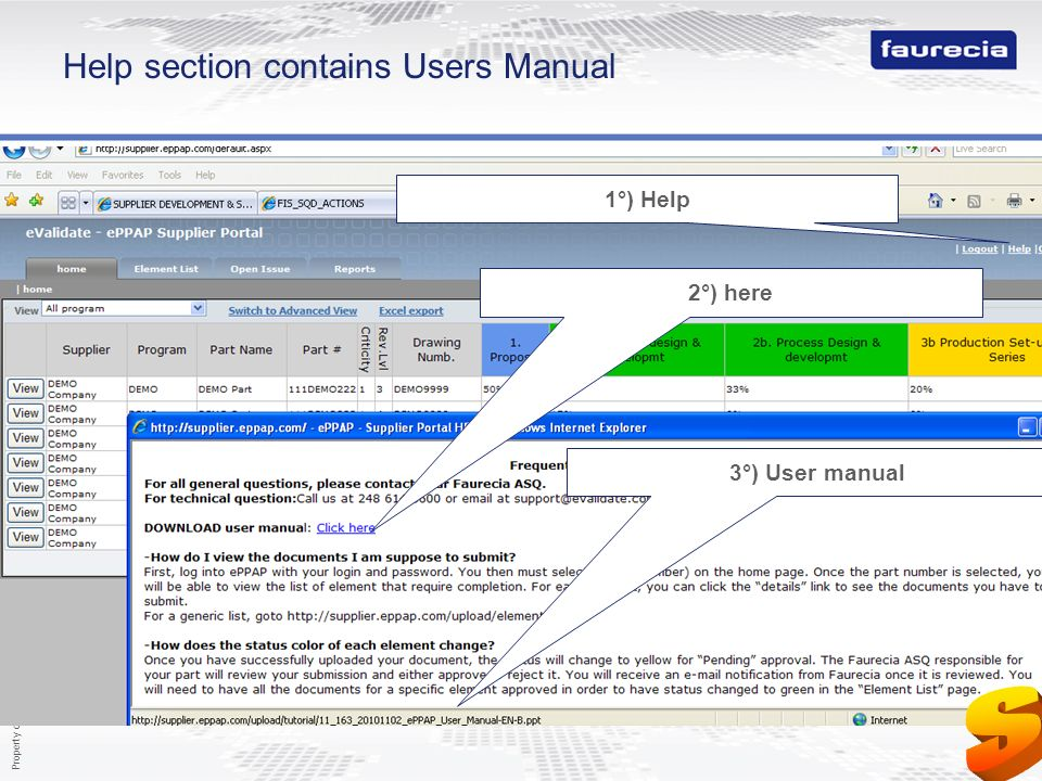 Help section contains Users Manual