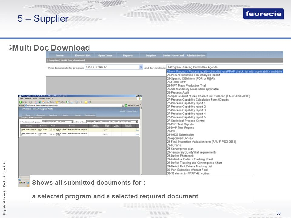 5 – Supplier Multi Doc Download Features to be used in a 2nd priority