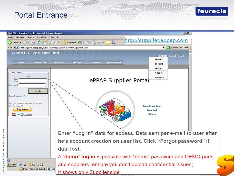 S Portal Entrance http://supplier.eppap.com http://supplier.eppap.com