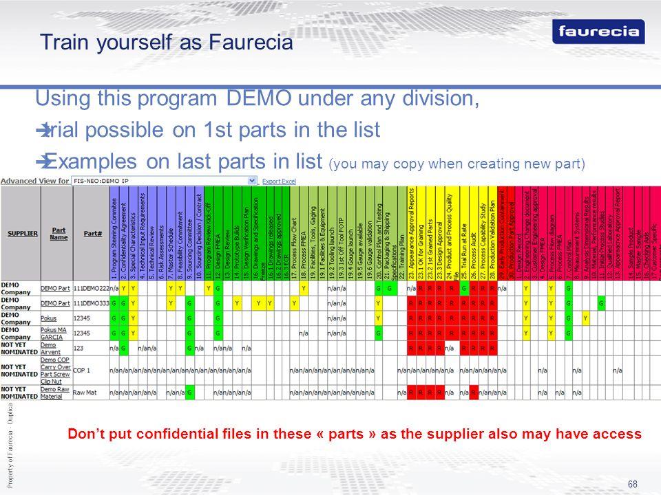Train yourself as Faurecia
