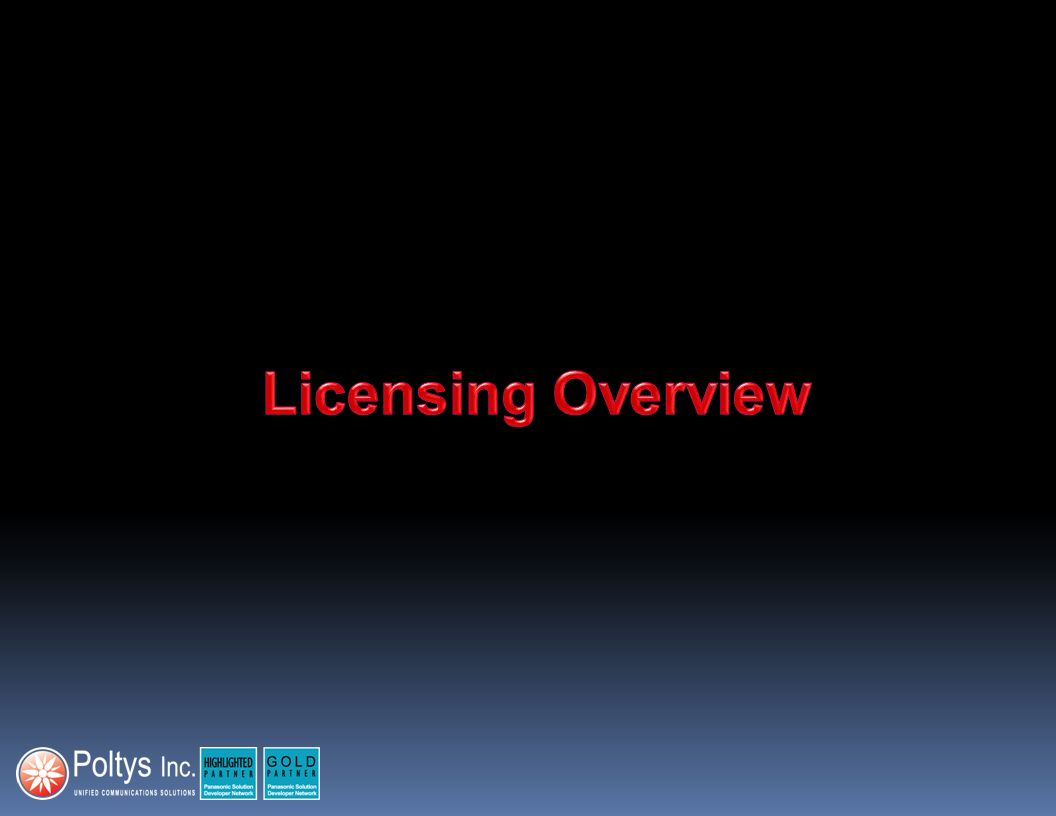 Licensing Overview 3 3