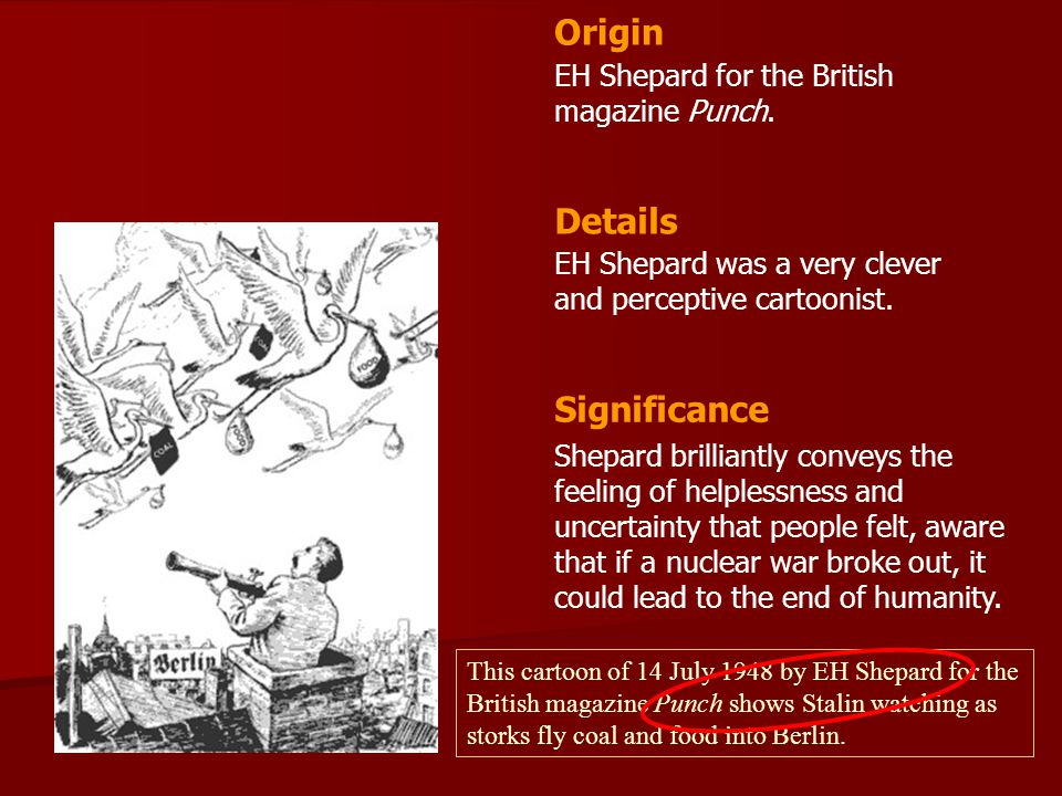 Origin Details Significance EH Shepard for the British magazine Punch.