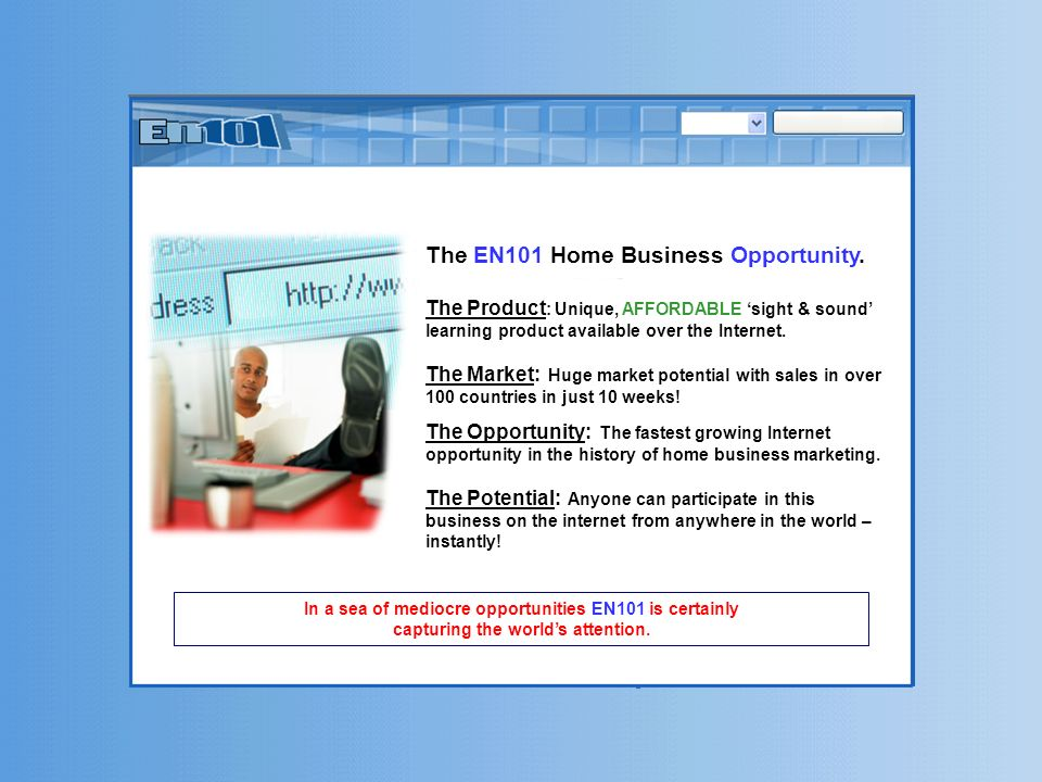The EN101 Home Business Opportunity