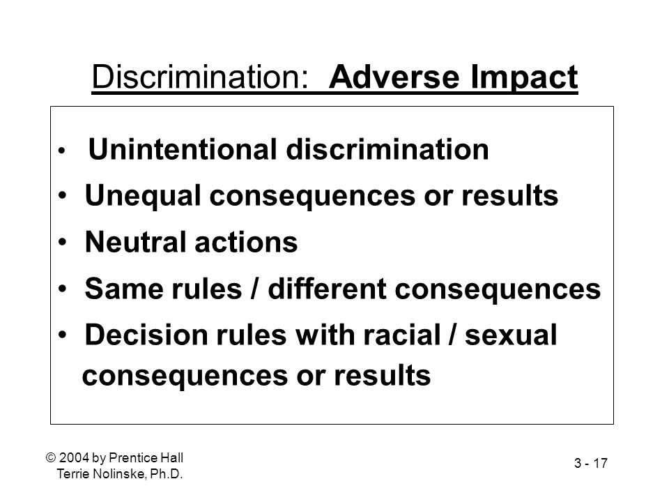 Discrimination: Adverse Impact
