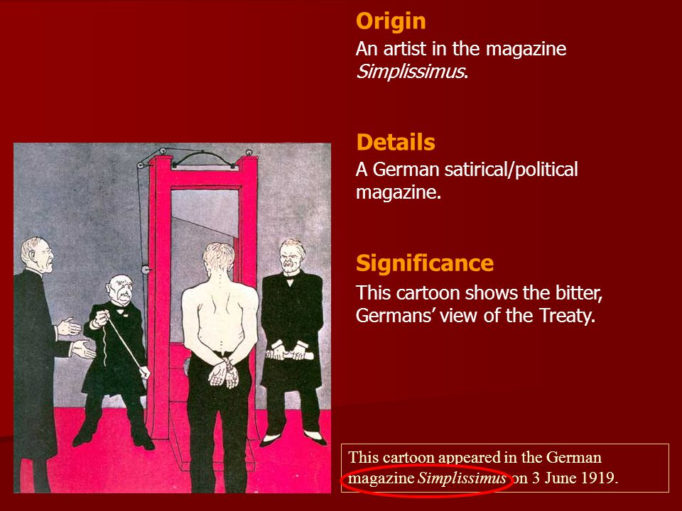 Origin Details Significance An artist in the magazine Simplissimus.