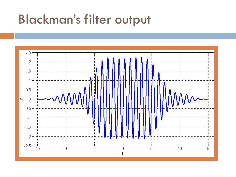 Blackman's filter output