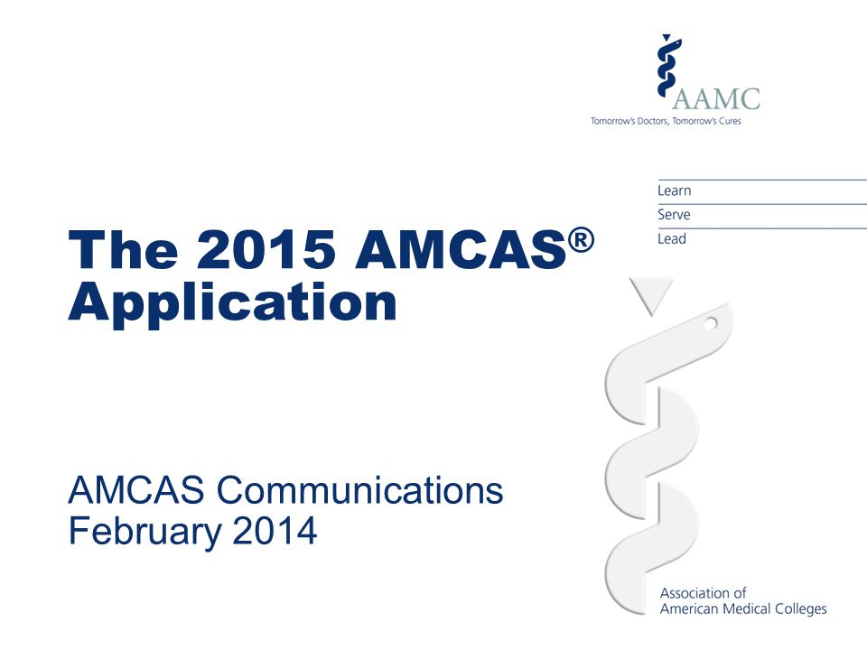 AMCAS Communications February 2014