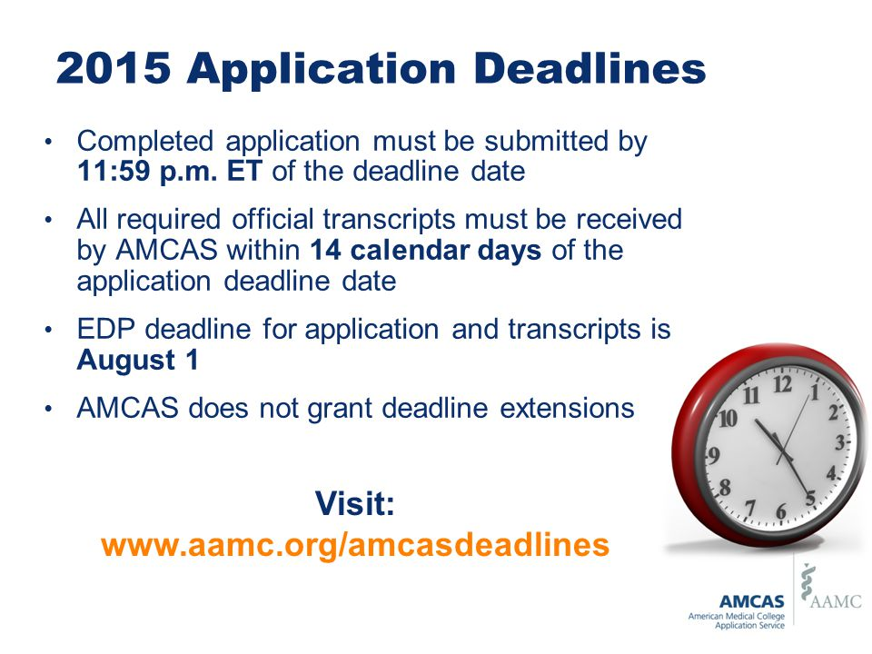 2015 Application Deadlines