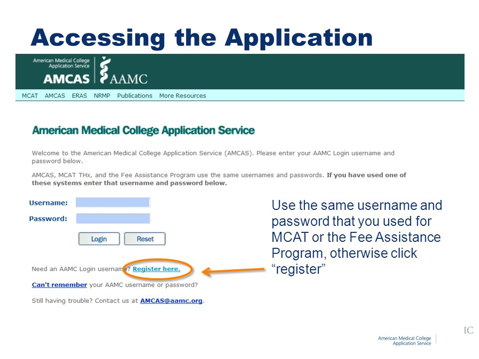 Accessing the Application