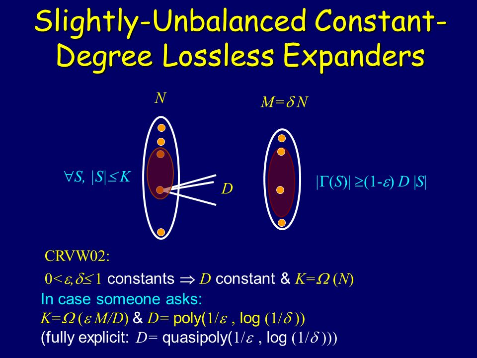 Slightly-Unbalanced Constant-Degree Lossless Expanders