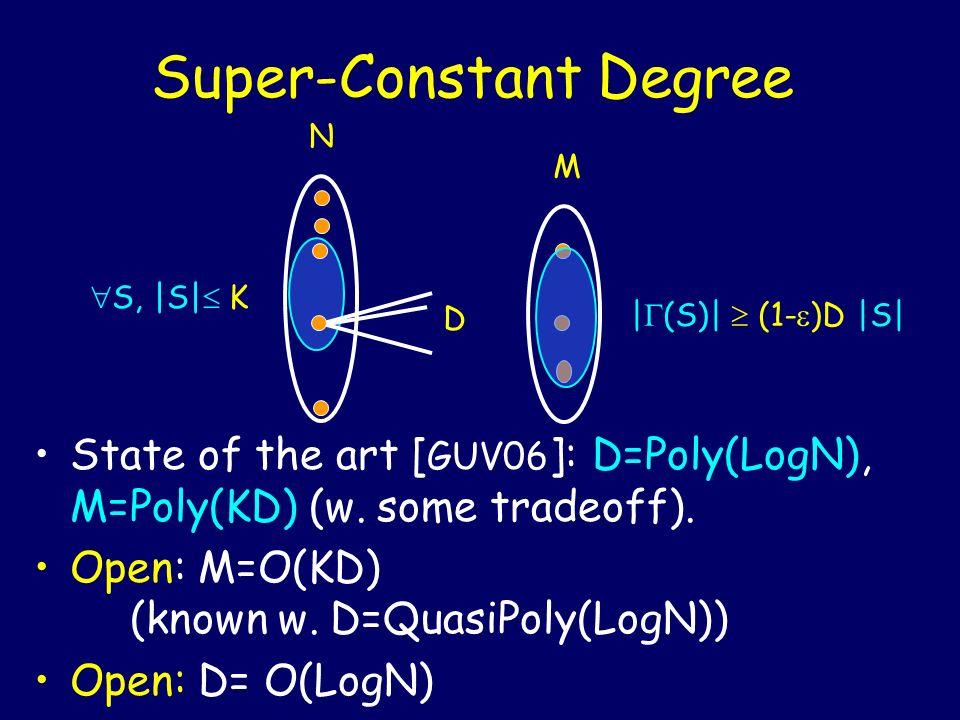 Super-Constant Degree