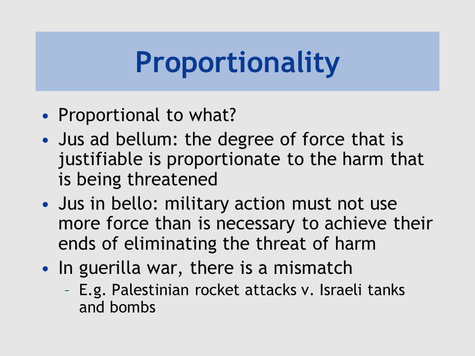 Proportionality Proportional to what