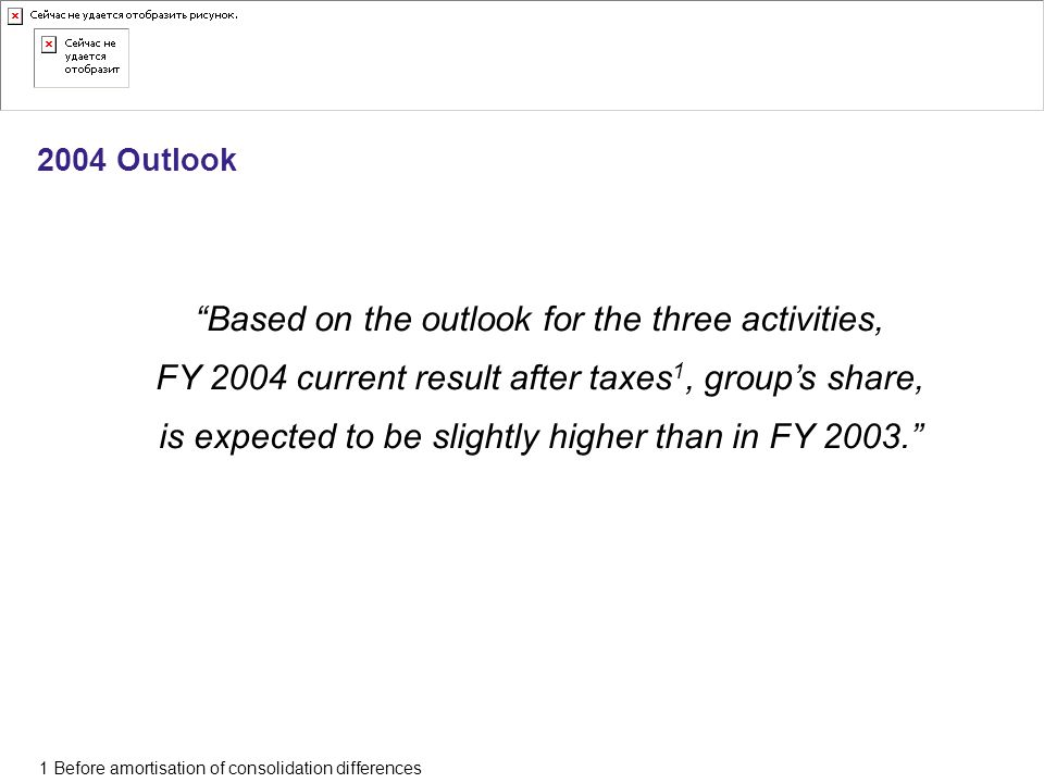 Based on the outlook for the three activities,