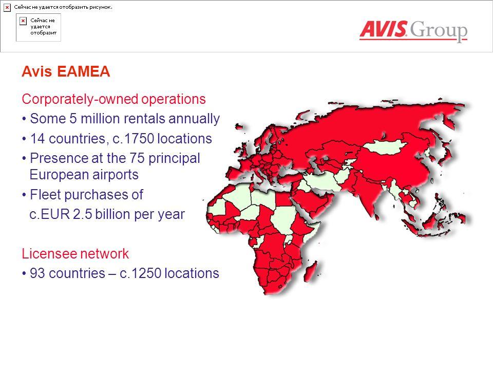 Avis EAMEA Corporately-owned operations