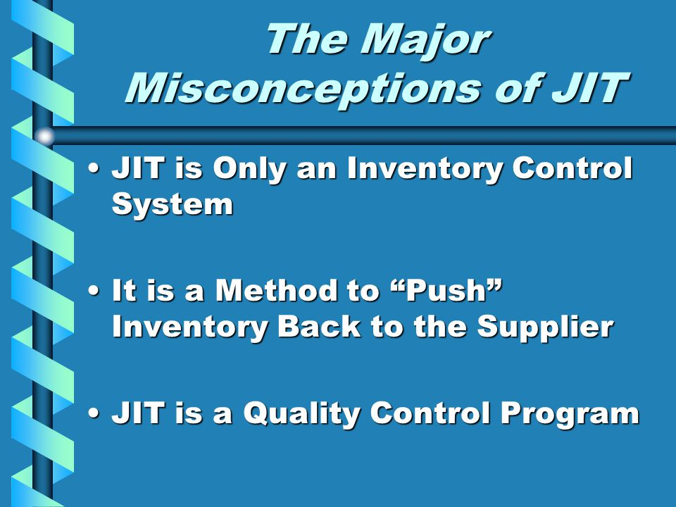 The Major Misconceptions of JIT