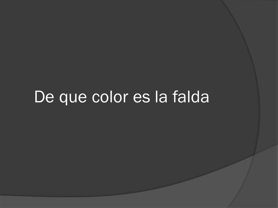 De que color es la falda