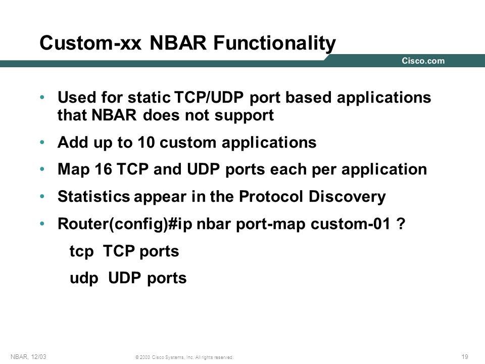 Custom-xx NBAR Functionality