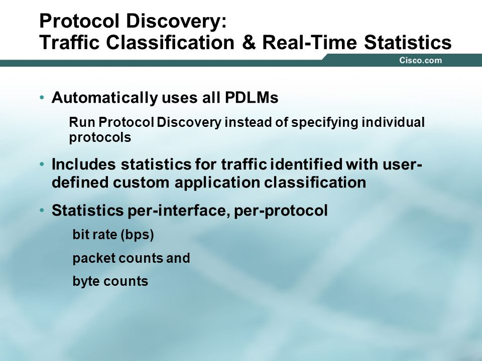 Protocol Discovery: Traffic Classification & Real-Time Statistics
