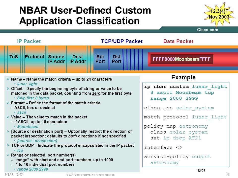 NBAR User-Defined Custom Application Classification