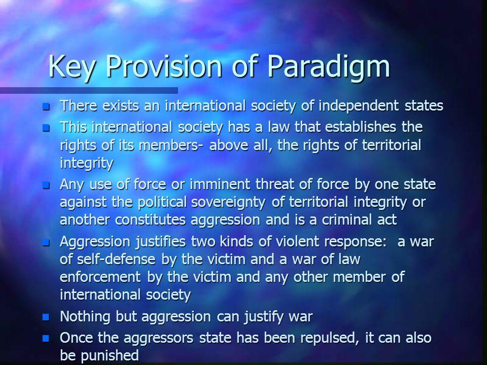 Key Provision of Paradigm