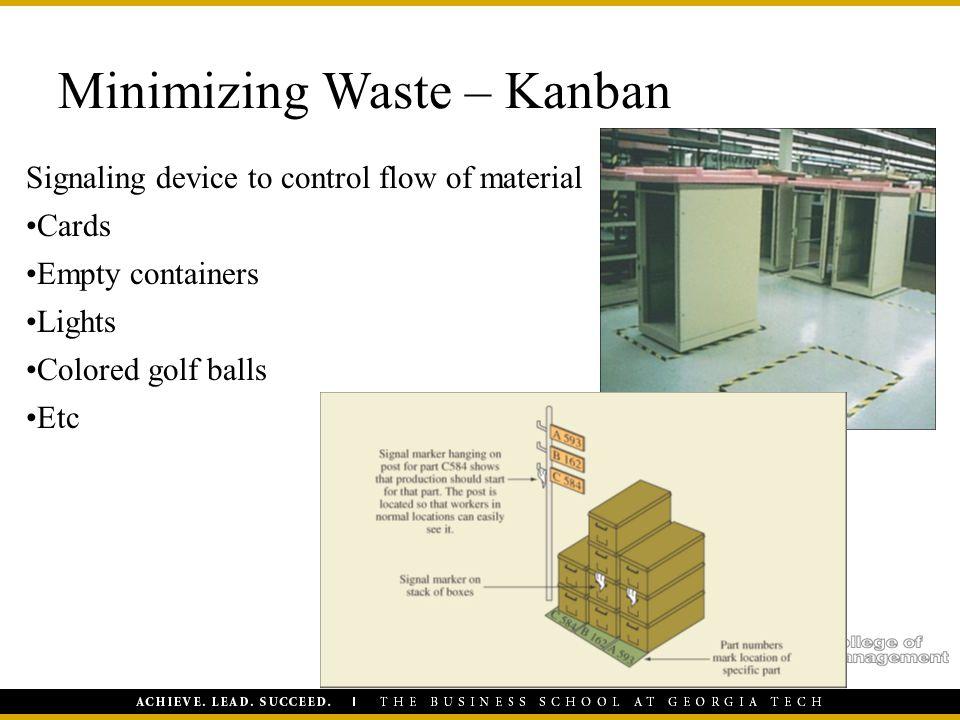 Minimizing Waste – Kanban