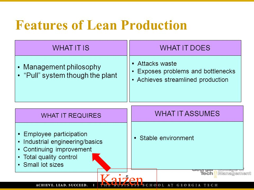 Features of Lean Production