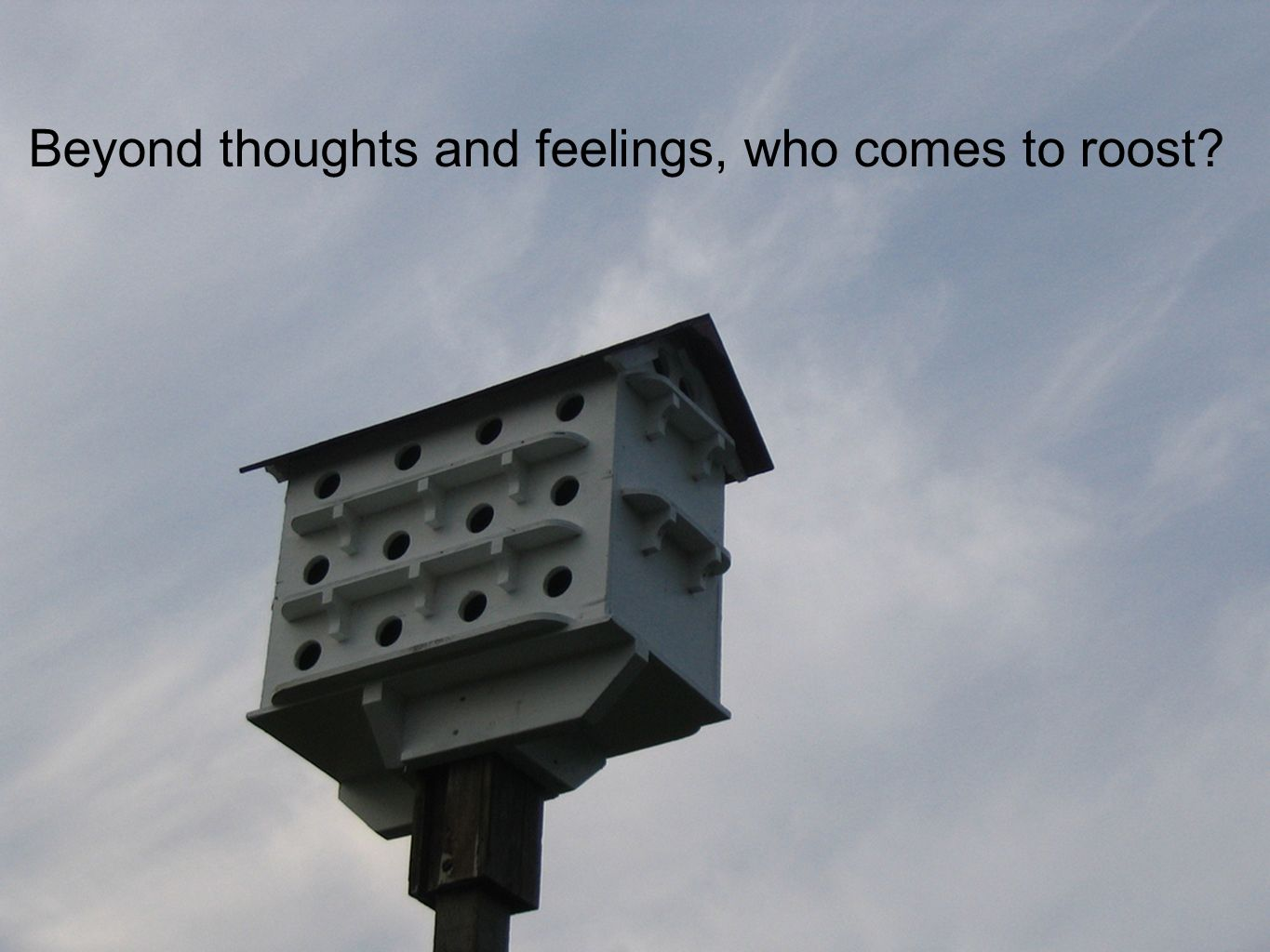Beyond thoughts and feelings, who comes to roost