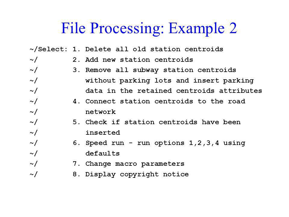 File Processing: Example 2