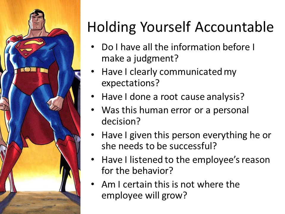 Holding Yourself Accountable