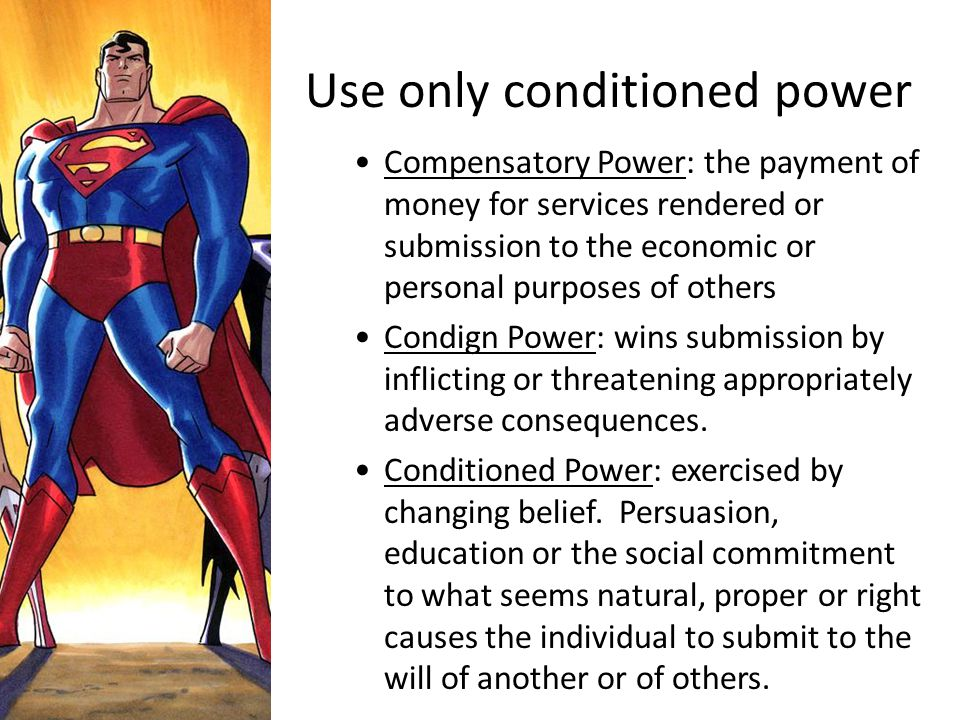 Use only conditioned power