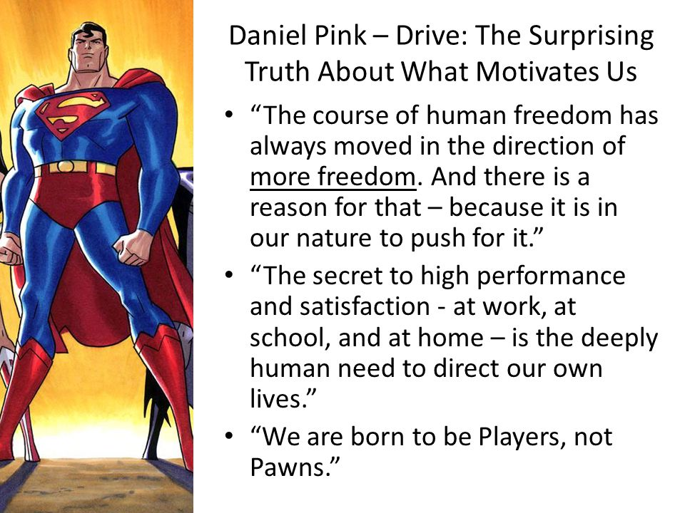 Daniel Pink – Drive: The Surprising Truth About What Motivates Us