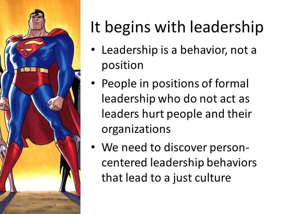 It begins with leadership
