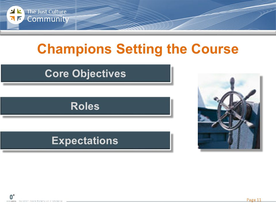 Champions Setting the Course