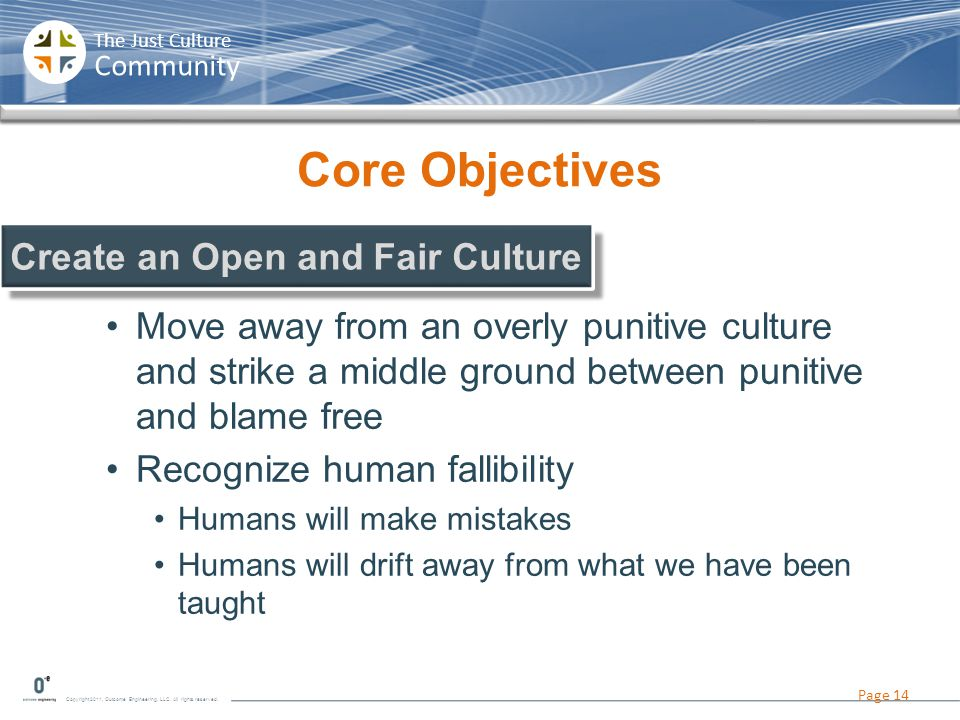 Create an Open and Fair Culture