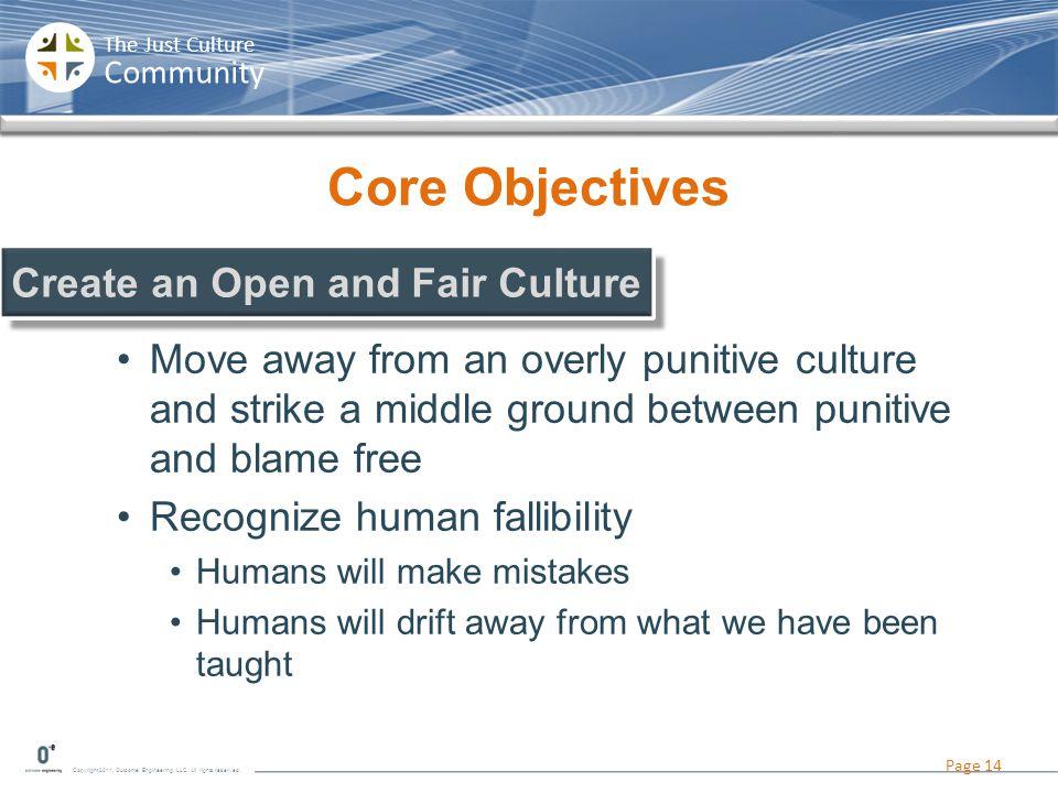 Create an Open and Fair Culture