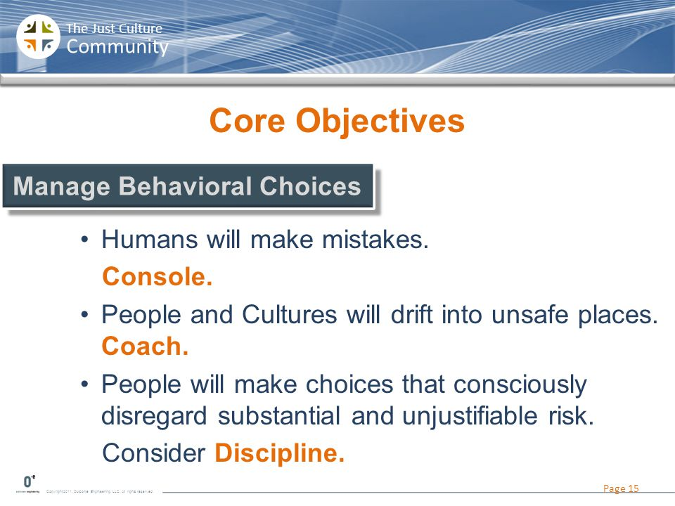 Manage Behavioral Choices