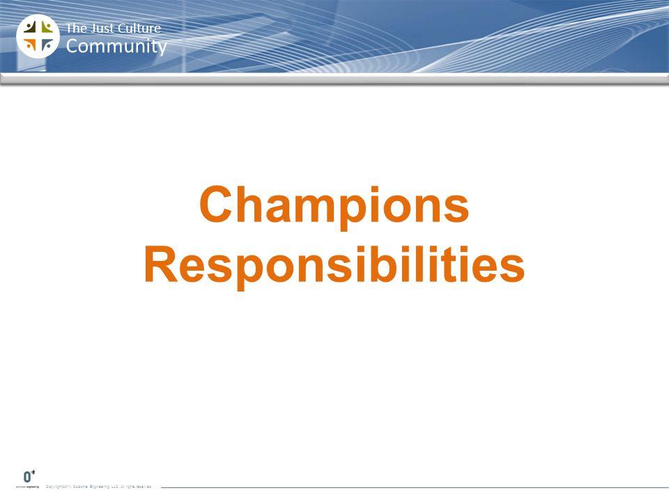 Champions Responsibilities
