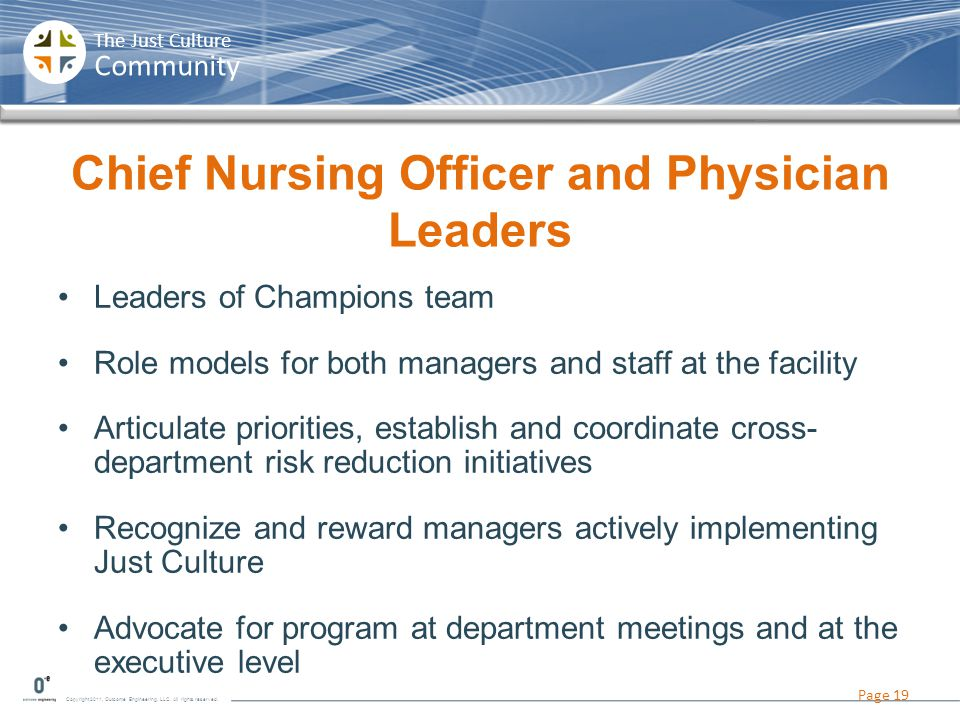 Chief Nursing Officer and Physician Leaders