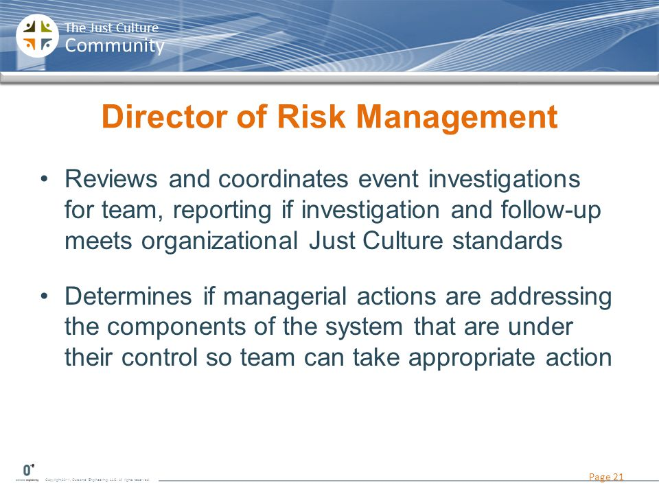 Director of Risk Management
