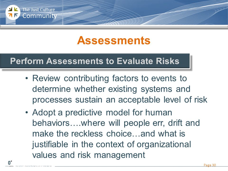 Perform Assessments to Evaluate Risks