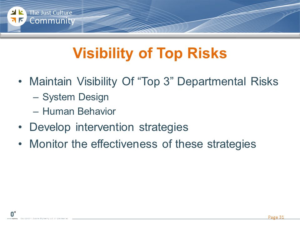 Visibility of Top Risks