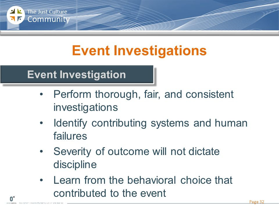 Event Investigations Event Investigation