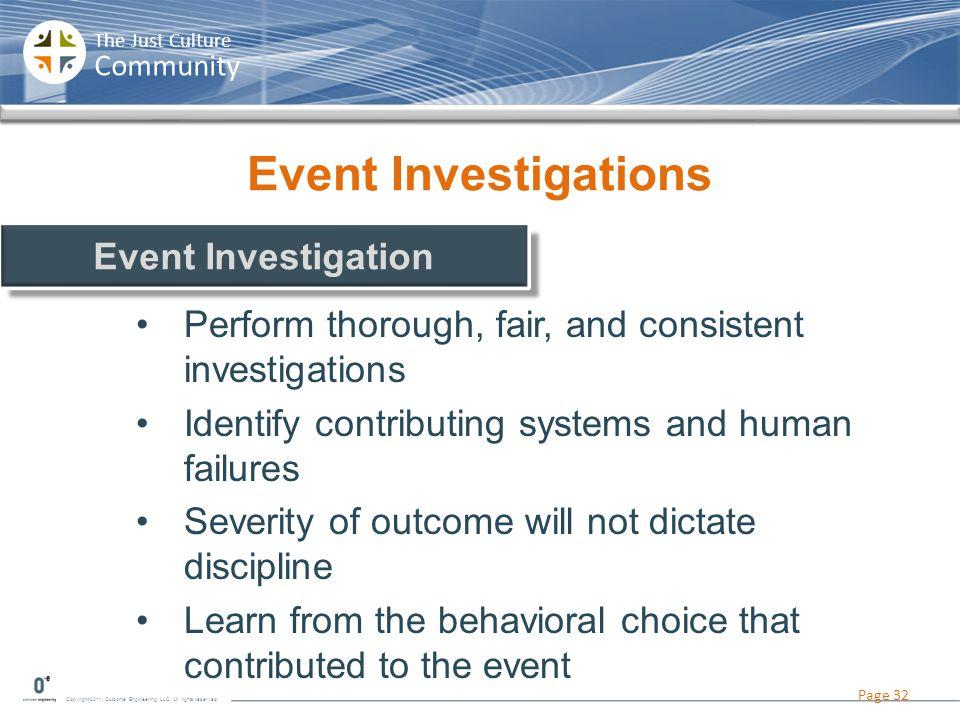 Event Investigations Event Investigation