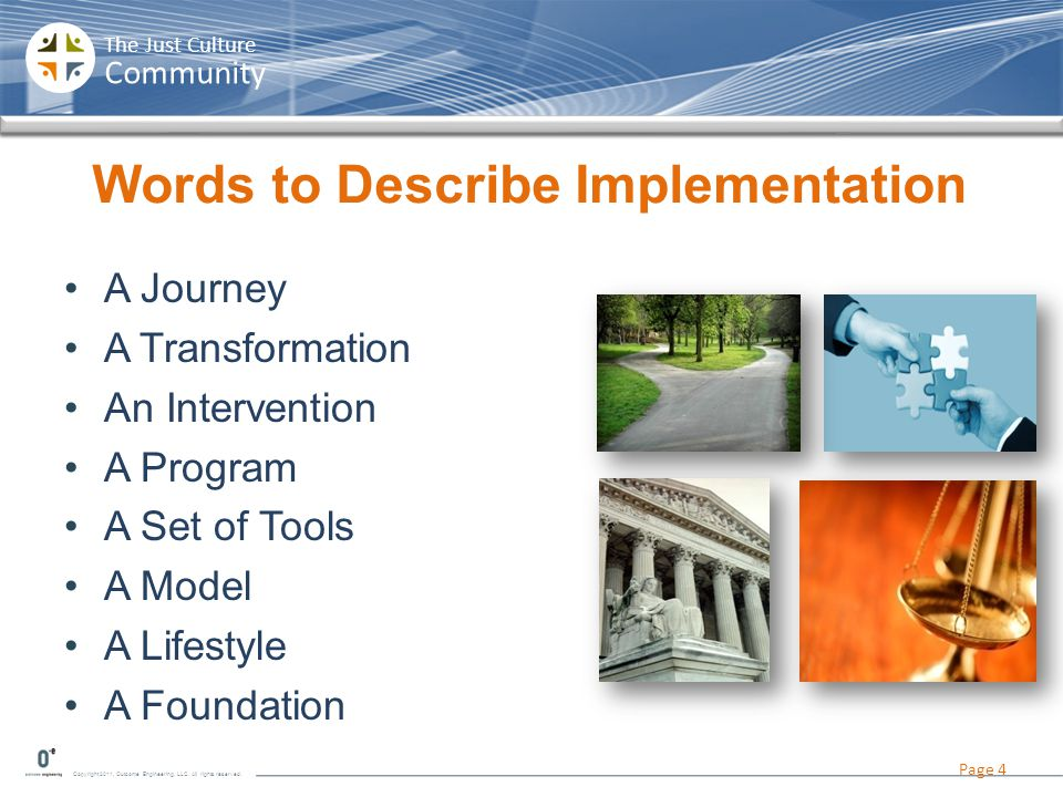 Words to Describe Implementation