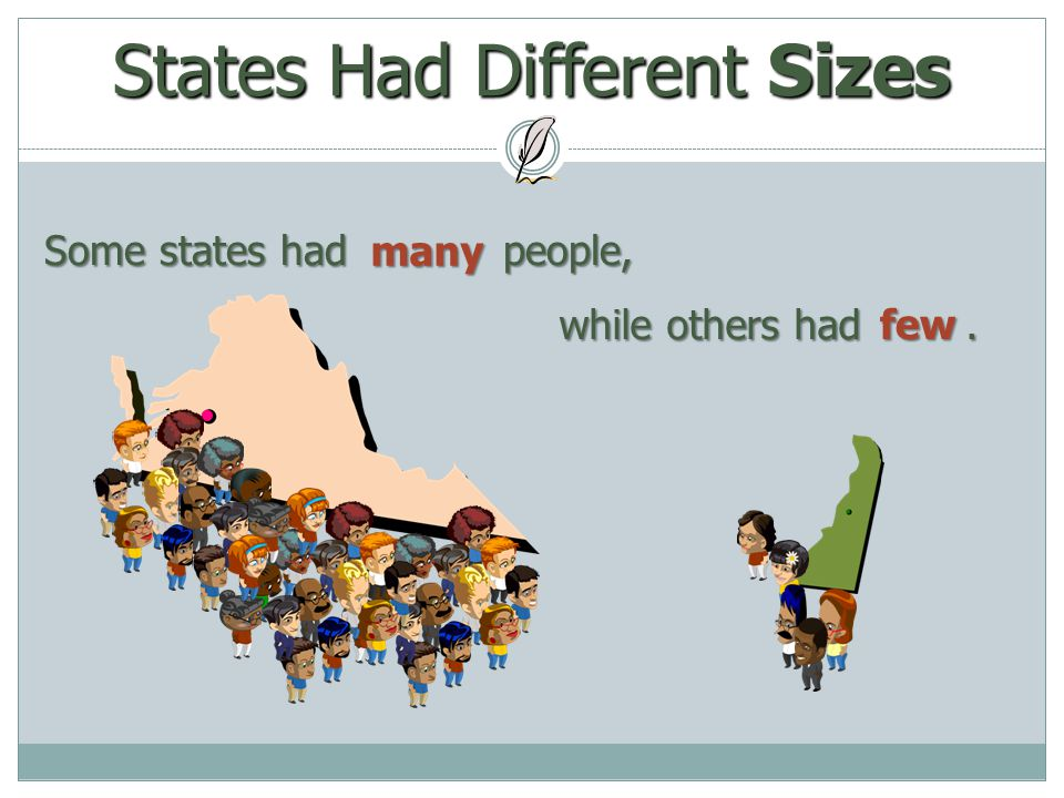 States Had Different Sizes