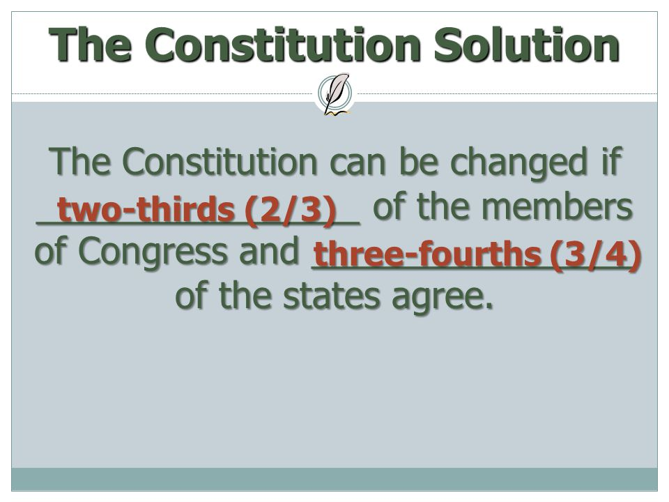 The Constitution Solution